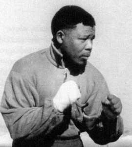 Mandela as boxer
