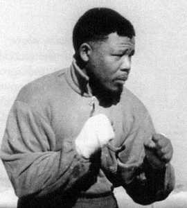 Mandela as boxer