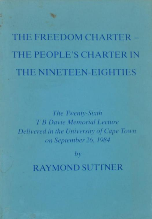Raymond Suttner Writings-Booklet 1